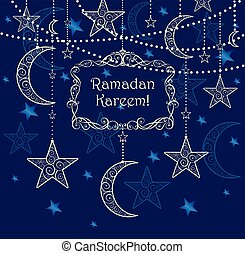 Decorative card for Ramadan