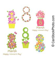 Greeting applique for 8 March