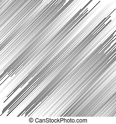 Irregular dynamic lines abstract monochrome pattern. Linear...