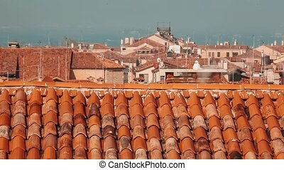 Roofs in Venice view from above