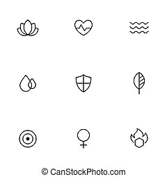 Spa, beauty, relaxing icons