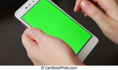 Touch Screen On White Smartphone