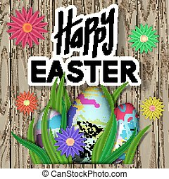 Happy Easter Card. Art Typography Text. Best Design...