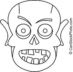 Dead icon, outline style