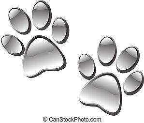 Paw print - Glassy paw prints