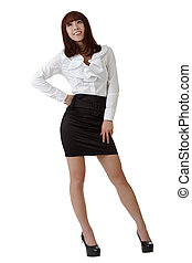 Happy business woman portrait of Asian standing and posing...