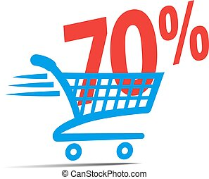 Check Out, Shopping Cart SALE Icon Symbol - Check Out Cart...