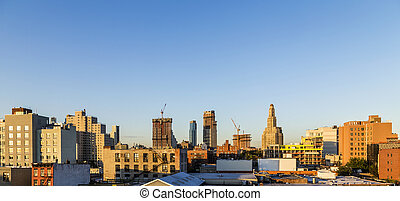 skyline of New York, Brooklyn. Brooklyn is the most populous...