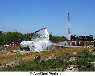 extinguishing fire - extinguishing fires at industrial...