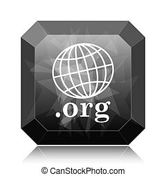 .org icon, black website button on white background.