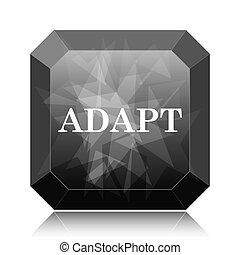 Adapt icon, black website button on white background.