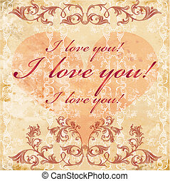 vinage valentines day card - vinage valentines day greeting...