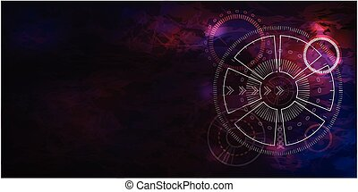 Abstract fly technology lines vector