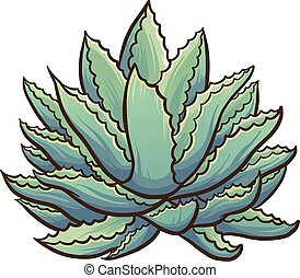 Agave plant - Cartoon agave plant. Vector clip art...