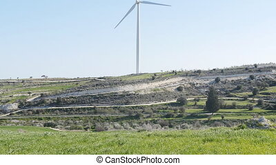 Wind turbines. Eco power concept - Eco power, wind turbines....