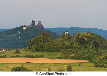 Trosky castle and The Chapel of St. Anne on Vysker - Trosky...