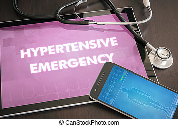 Hypertensive emergency (heart disorder) diagnosis medical...