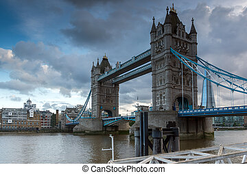 LONDON, ENGLAND - JUNE 15 2016: Sunset view of Tower Bridge...