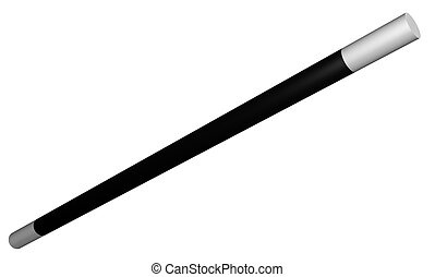 wand - Illustration of a large isolated wand on a white...