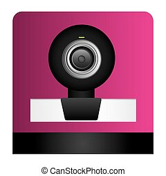 digital webcam technology computer, vector illustration...