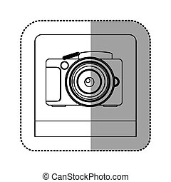 silhouette studio professional camera icon