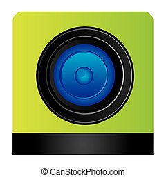 lents professional camera focus, vector illustration design