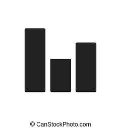 Graph data analysis icon