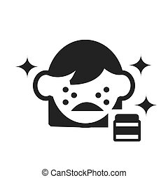 skin acne icon vector