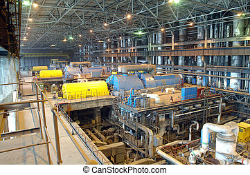 Industrial plant - Shop and production equipment at the...