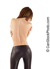 attractive woman's back