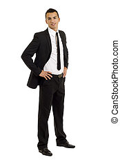 handsome business man - Full length of a handsome business...