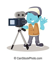 blue boy movie cameraman recording