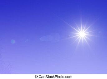 sun on sky