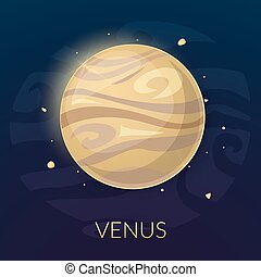 The planet Venus, vector illustration