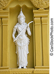 Statue at Gangaramaya Buddhist Temple - Image of a statue...