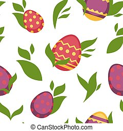 Easter paschal eggs seamless pattern vector background -...