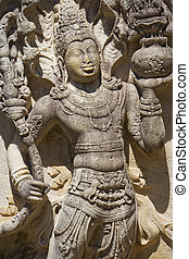 Stone Guardian at Vatadage, Sri Lanka - Image of a stone...