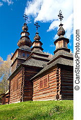 country wood church - Ukrainian historical country wood...