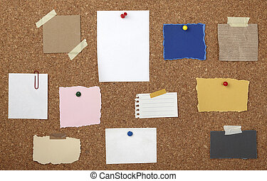 brown old paper note background cork board - collection of...