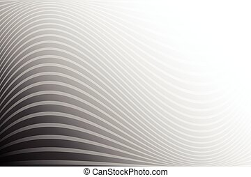 White stripe wave on black background for abstract background concept