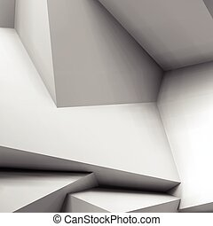 Abstract geometric background with overlapping cubes