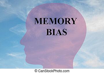 Memory Bias - mental concept - Render illustration of...