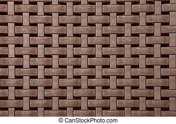 Wicker Texture, Weathered Brown Background Pattern - Plastic...