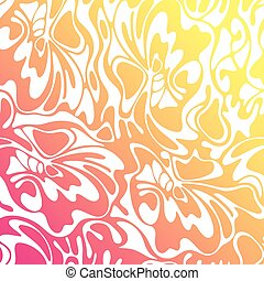 Vector color hand-drawing wave sunny background. Gradient abstract fire texture.
