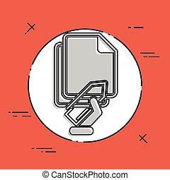 Paper clip icon