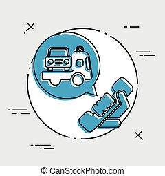 Wrecker call icon