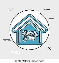 Home door handle