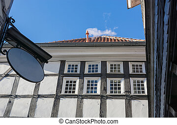 Timbered house in Hattingen - View facade of a timbered...