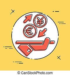 Euro/Yuan - Foreign currency exchange icon