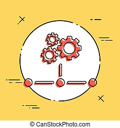 Network icon - Working gears